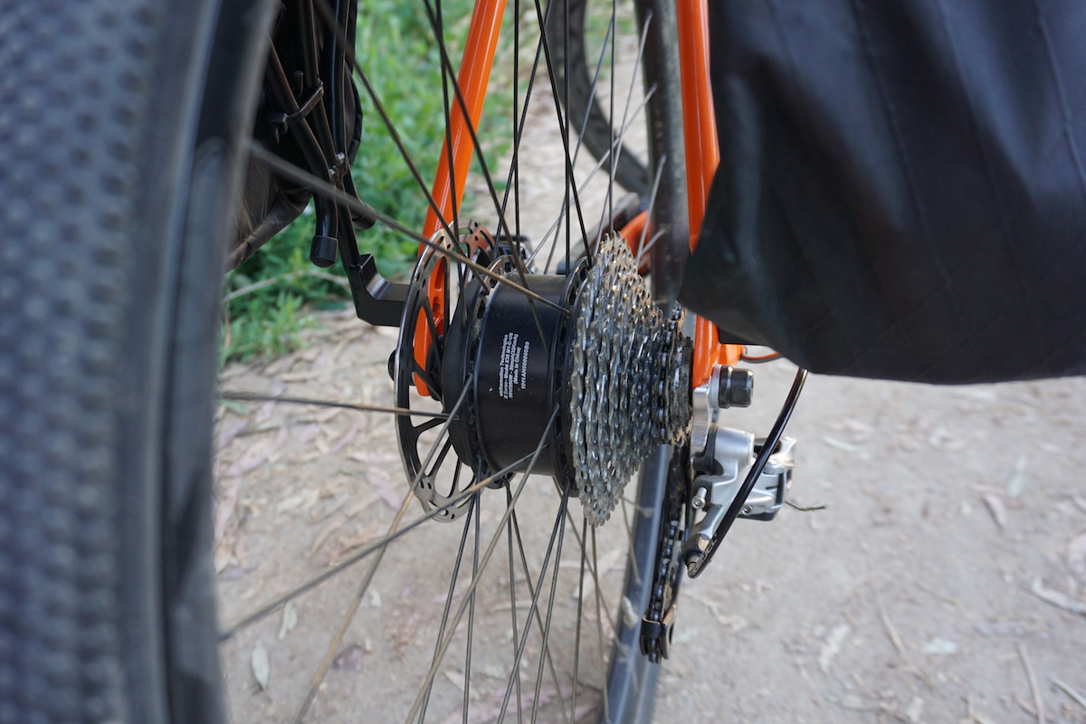 The Orbea Gain's Ebikemotion motor is located in the rear hub