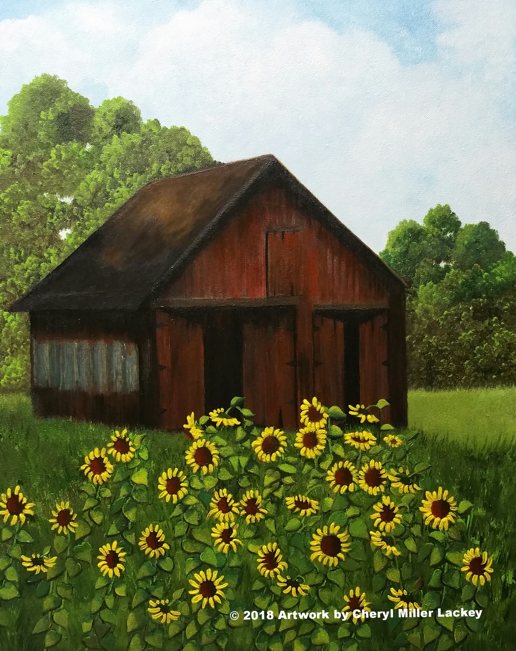 Lackey_Sunflowers_Acrylic 16 X 20.jpg