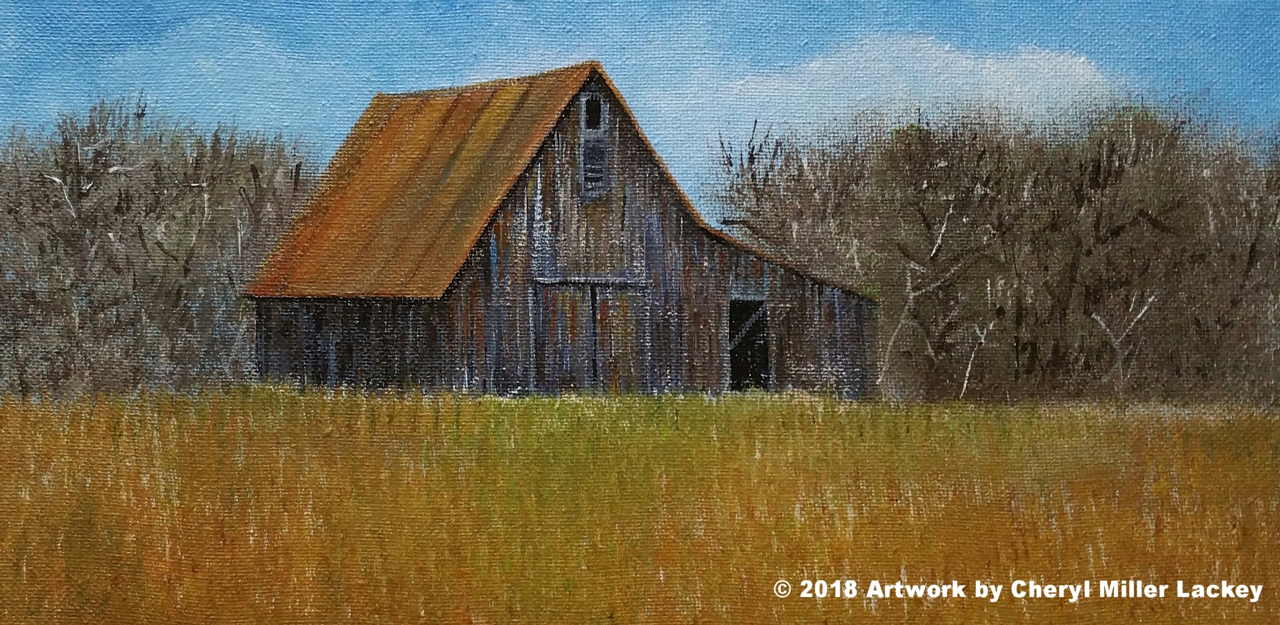 Lackey_Autumn Barn_Acrylic 7 X 14.jpg