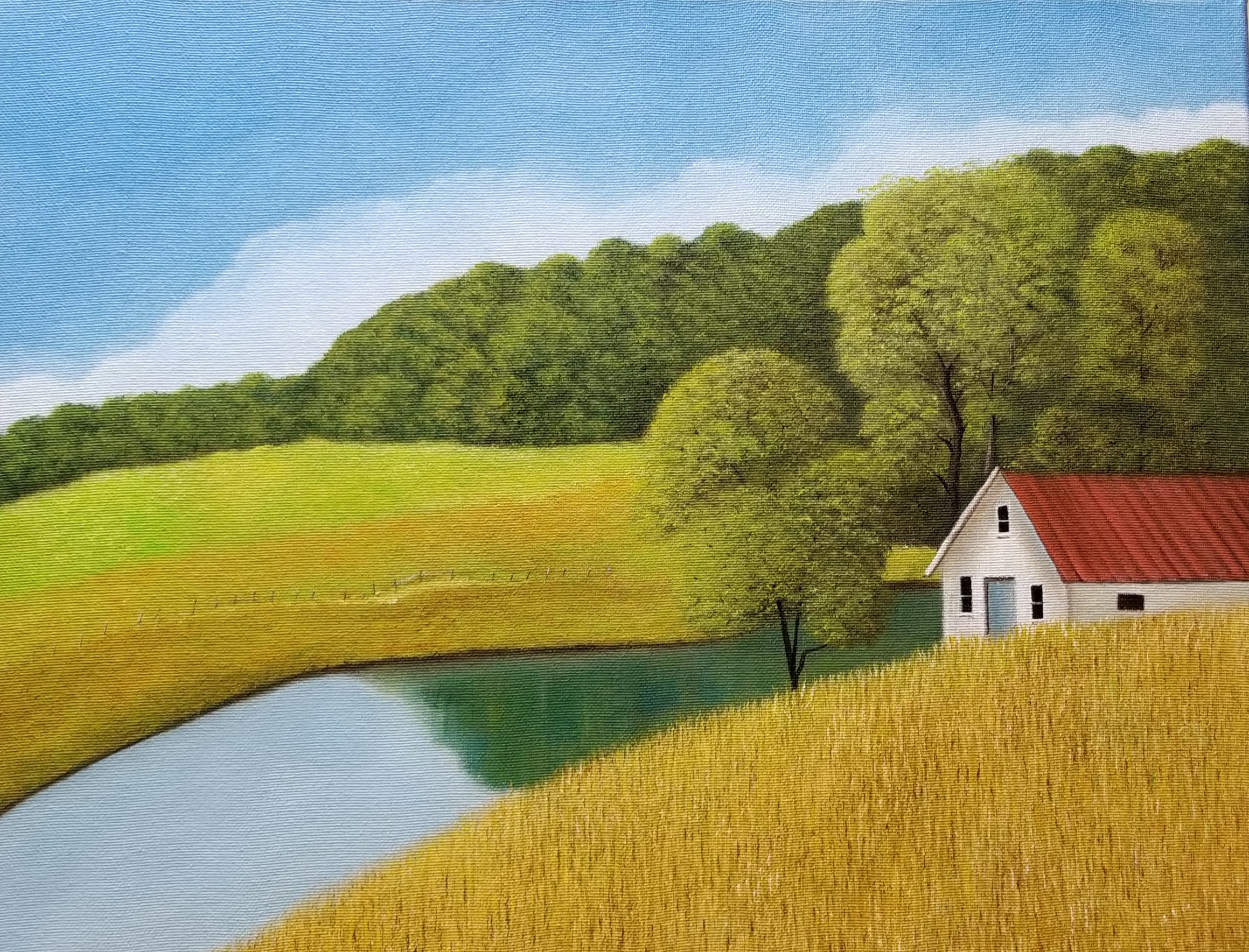 Lackey_Morgan Farm near Homeplace Restaurant - Catawba_Acrylic 16 X 20 6.26.19.jpg