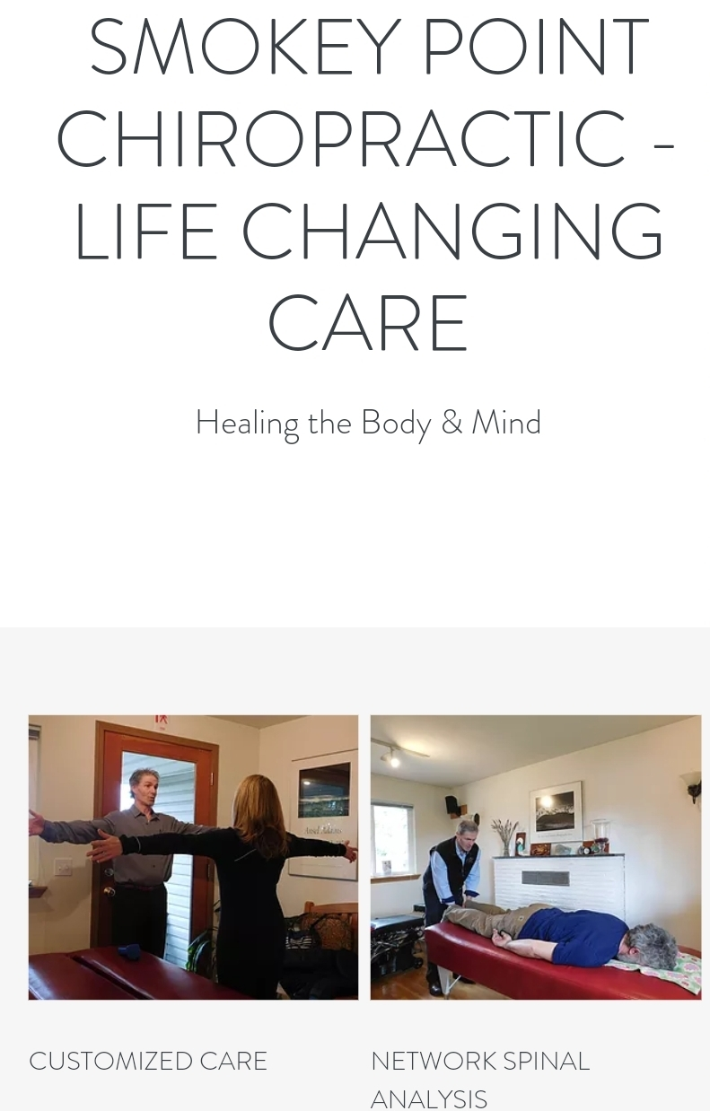 SMOKEY POINT CHIROPRACTIC - LIFE CHANGING CARE      Healing the Body & Mind