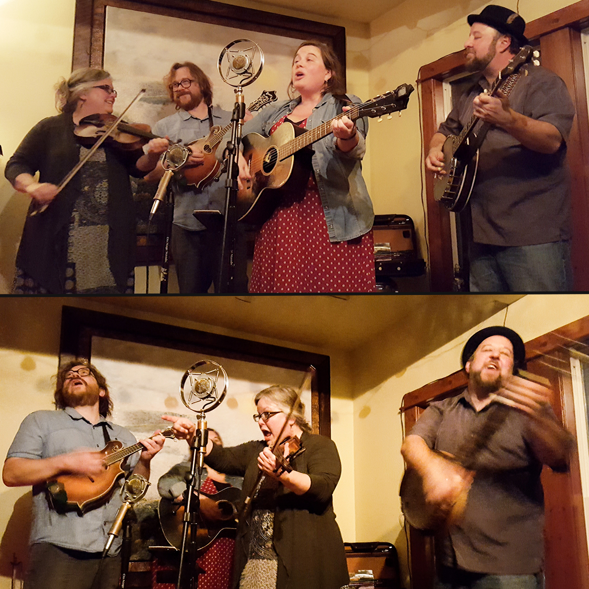 Action shots from a concert at The Rock House, Reeds Spring, Missouri (photos: Jeanette Bair)