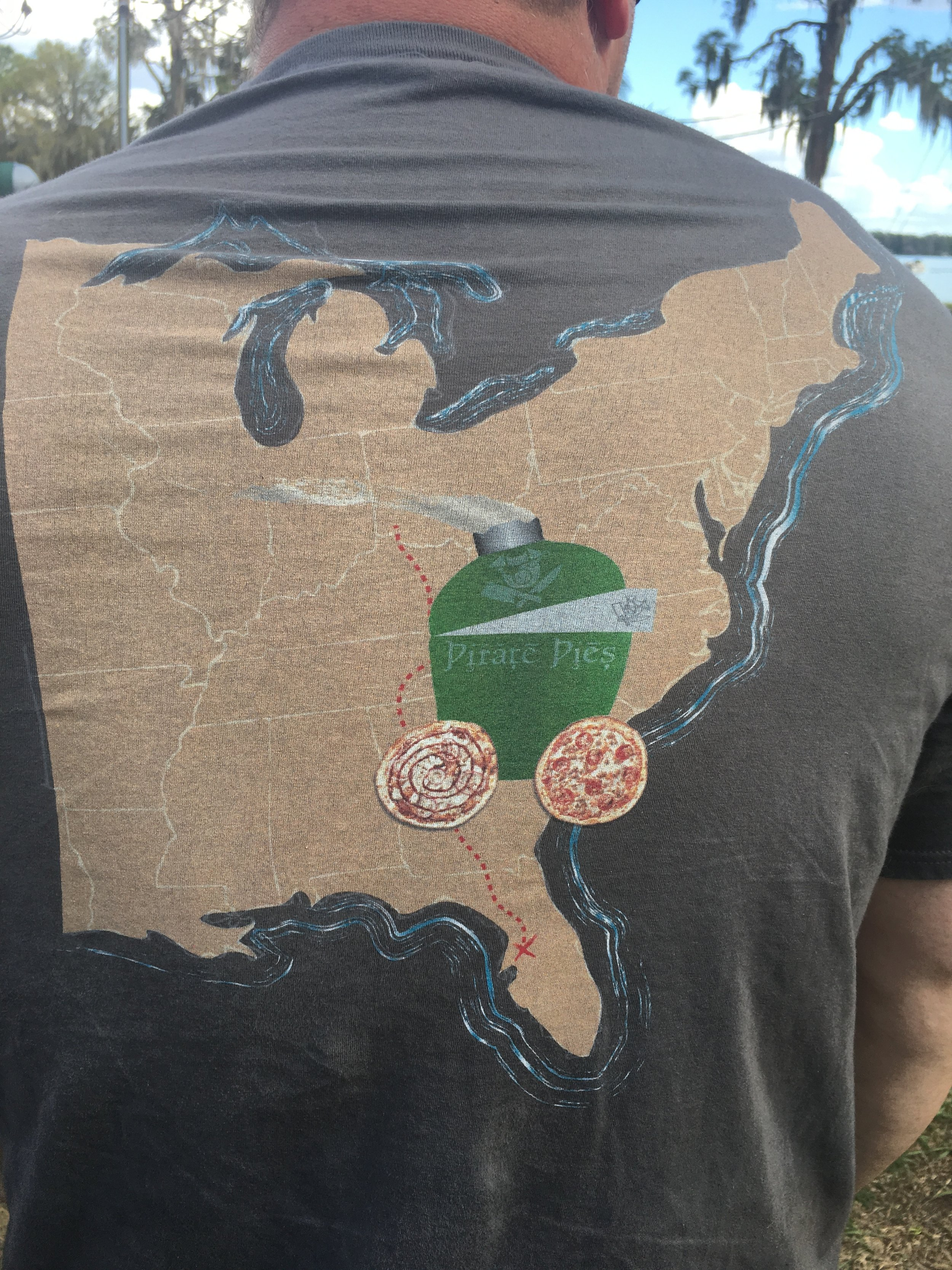 Yes, they had shirts with a Pizza-Porta printed for the occasion.