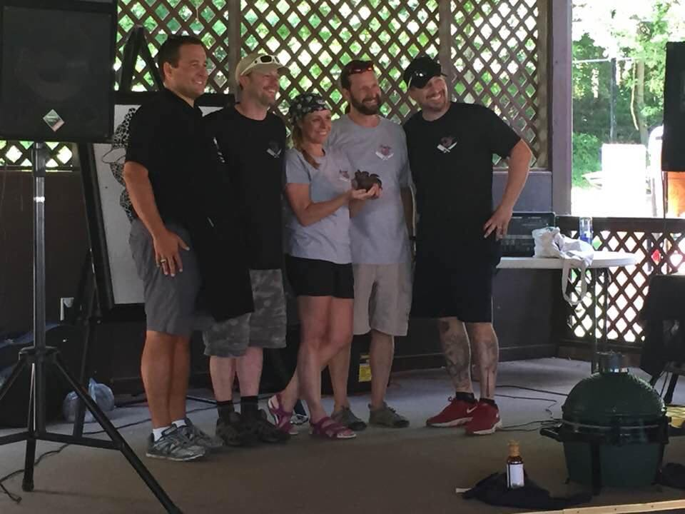 Winners accepting the trophy at 2017 Porkopolis