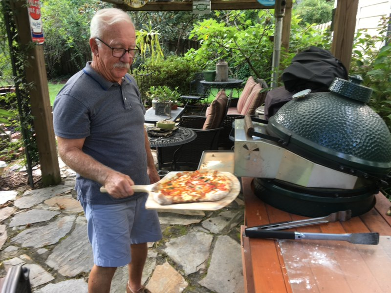 Dave Pulling a Pizza