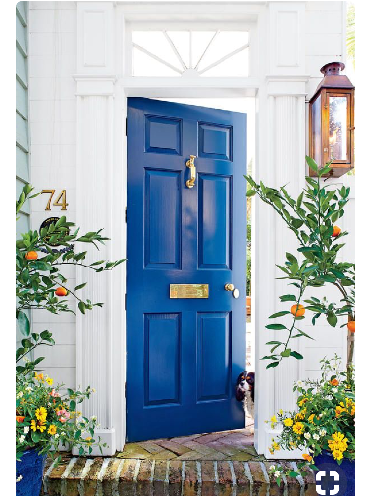 cobalt blue front door