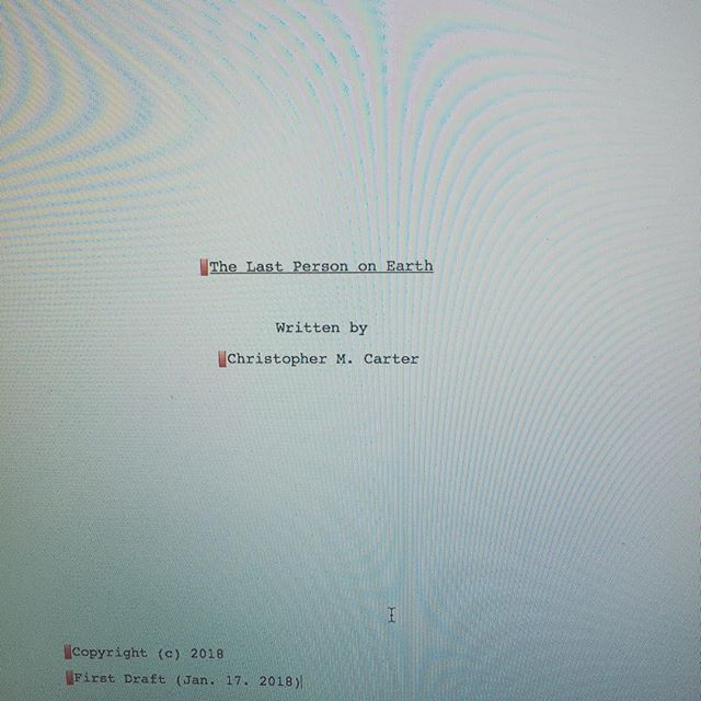 Wrote this in three days- one of those things that I couldn't STOP thinking about it until it was written. Dead Space, The Thing and Invasion Of the Body Snatchers mixed into one!  Can't wait to start pre-production!  #filmmaker #DP #thething #deadspace #invasionofthebodysnatchers #carterinkfilms #letsgetit #scifi #horror