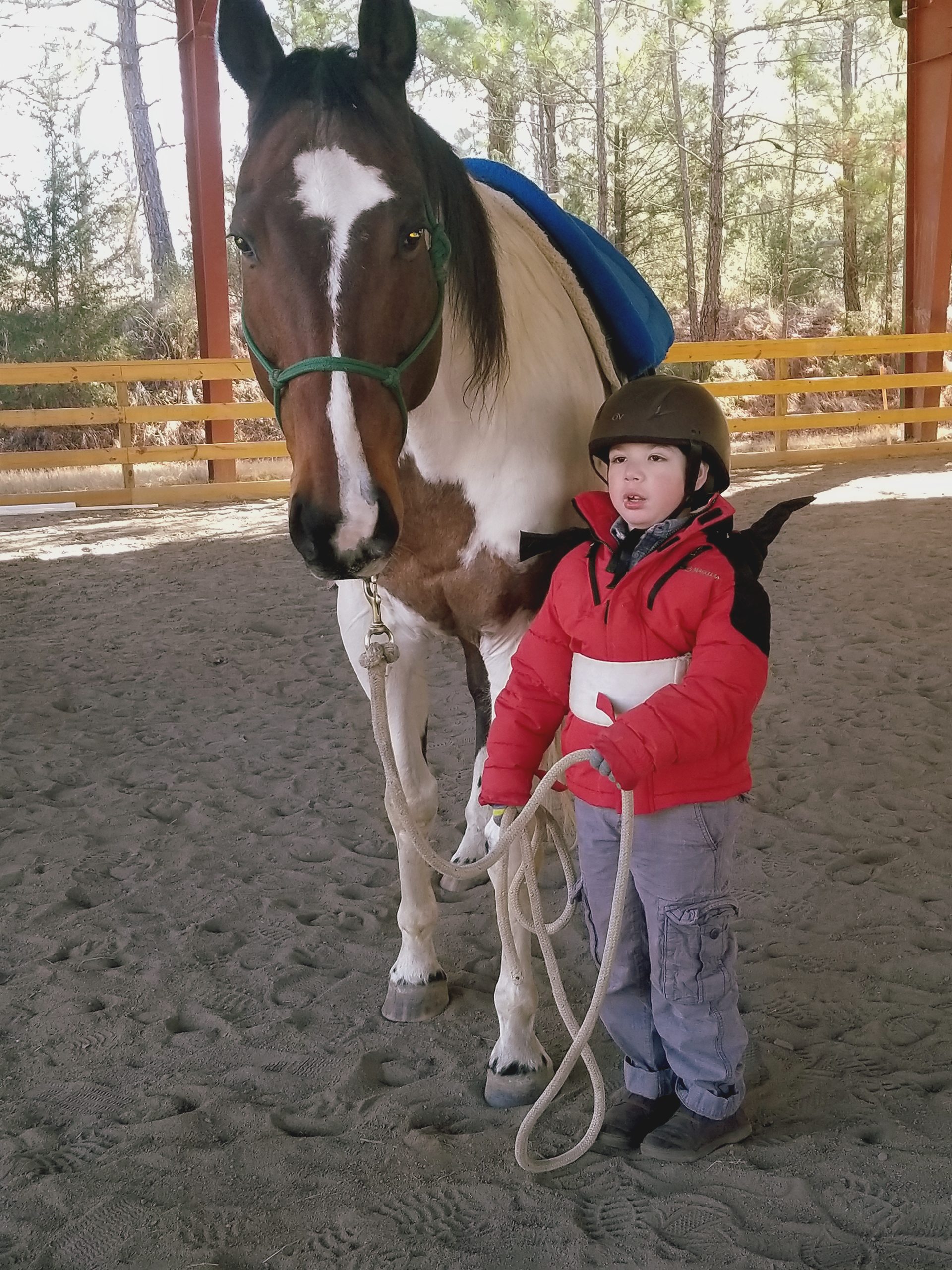 Adaptive Riding builds self-confidence.