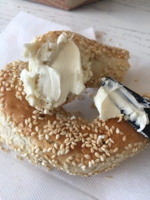 DIY bagel schmear, courtesy of St.-Viateur and Philadelphia Cream Cheese.