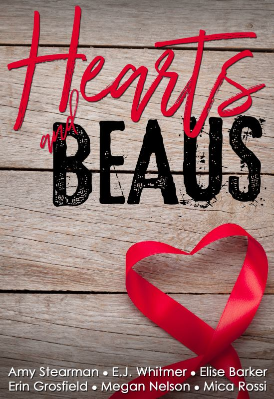 Hearts and Beaus:A Collection of Love Stories - 105 Reasons by Erin GrosfieldZoe is living her best life. After inheriting her grandparents' farmhouse in her tiny hometown, she builds a thriving wedding venue in the old barn. Every day greets her with tranquility and laughs with her faithful, larger-than-life Great Dane. She has everything she needs.Wyatt loves his penthouse life in the city, his world travels and his money. But with all his success, he has to admit he finds himself lonely and unfulfilled.When a chance encounter brings their worlds together, will they be able to choose between the lives they know and their unexpected, inescapable longing to be together?Also includes stories from five more awesome writers!