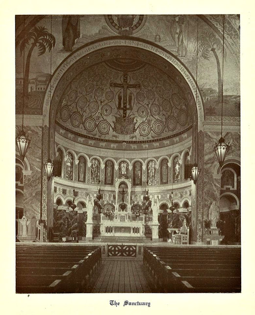 The old altar at St. Clement Church in Chicago