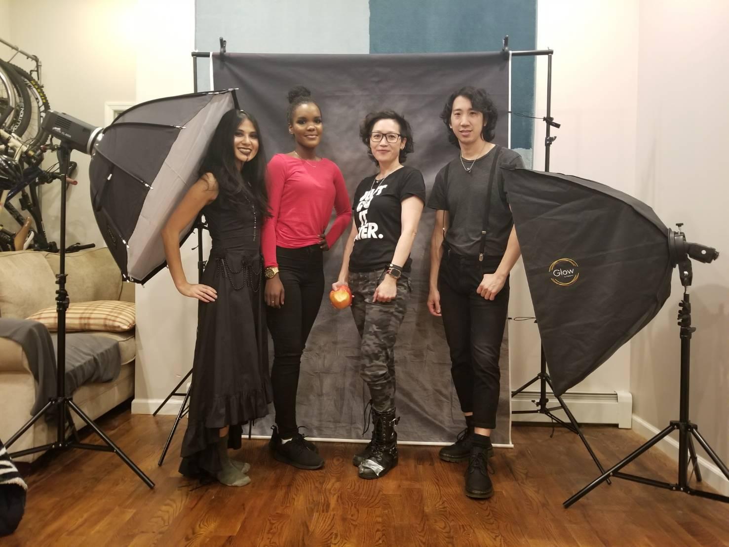 Photo Shoot Team (L-R): Elizabeth Tam, Alani Rasheed, Nephi Lim, Jon Chao