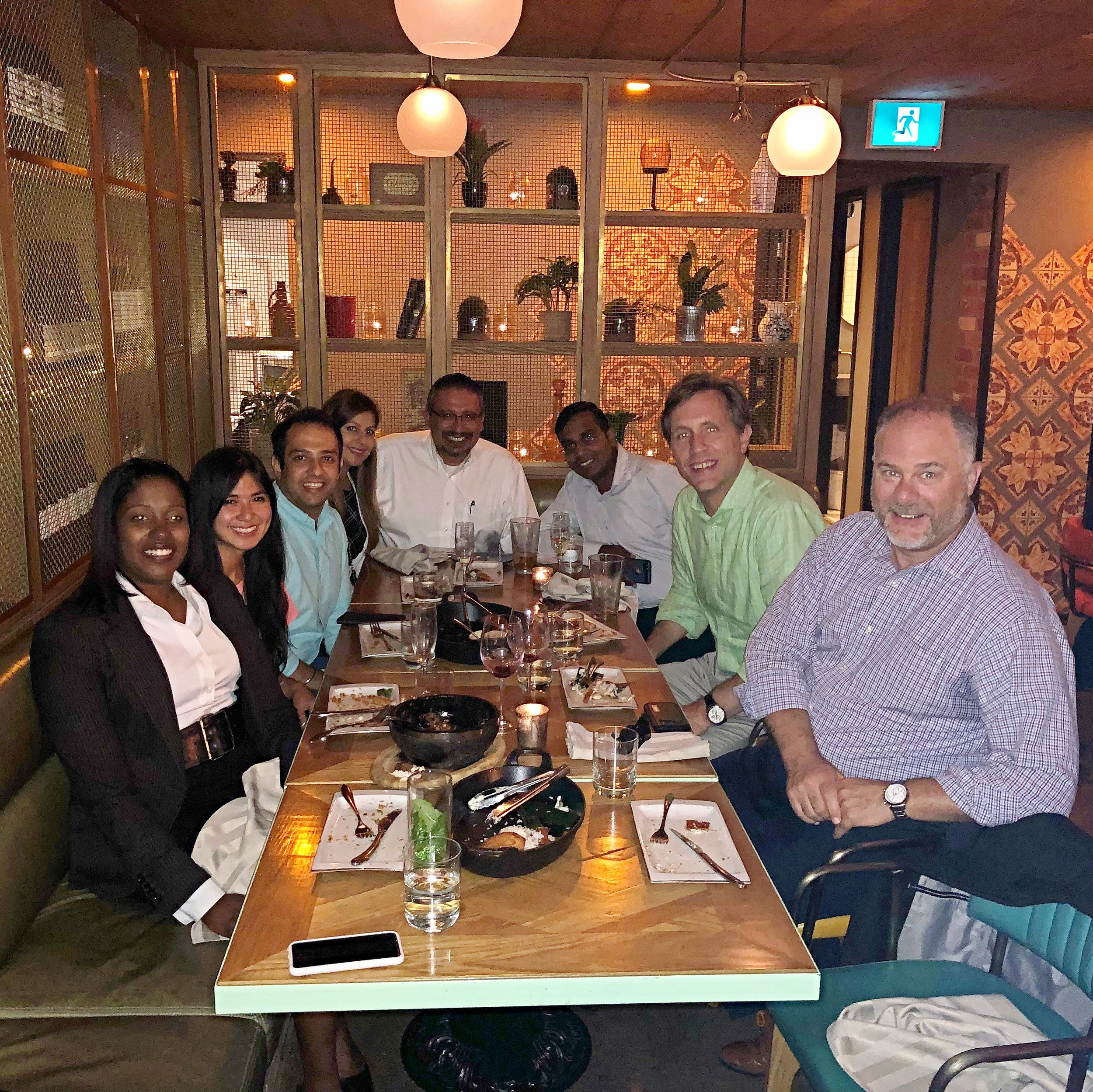 Team Dinner at Baro in Toronto, Canada