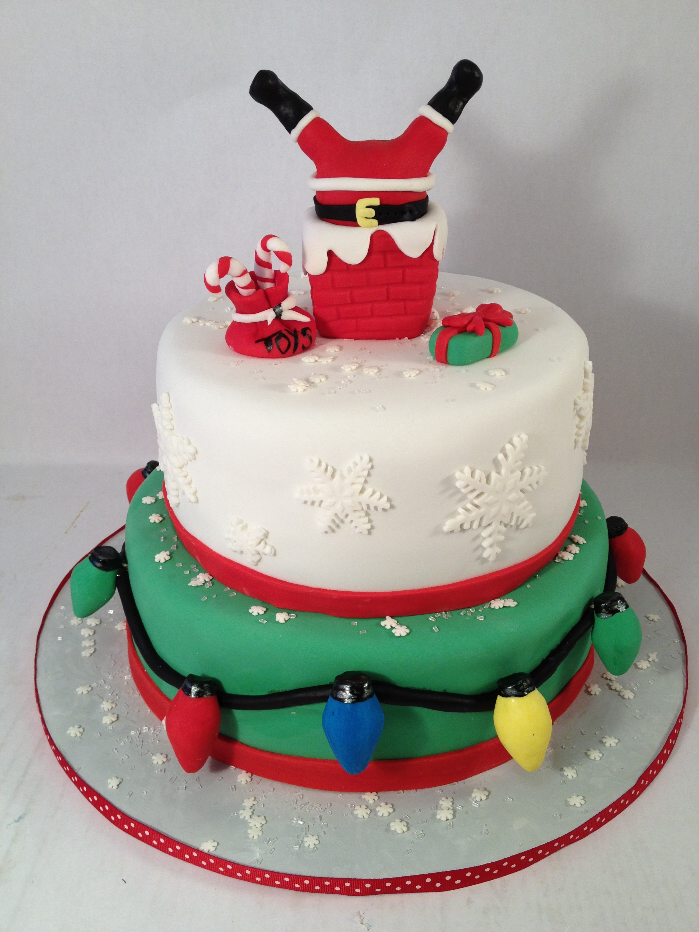Cake christmas santa chimney.JPG