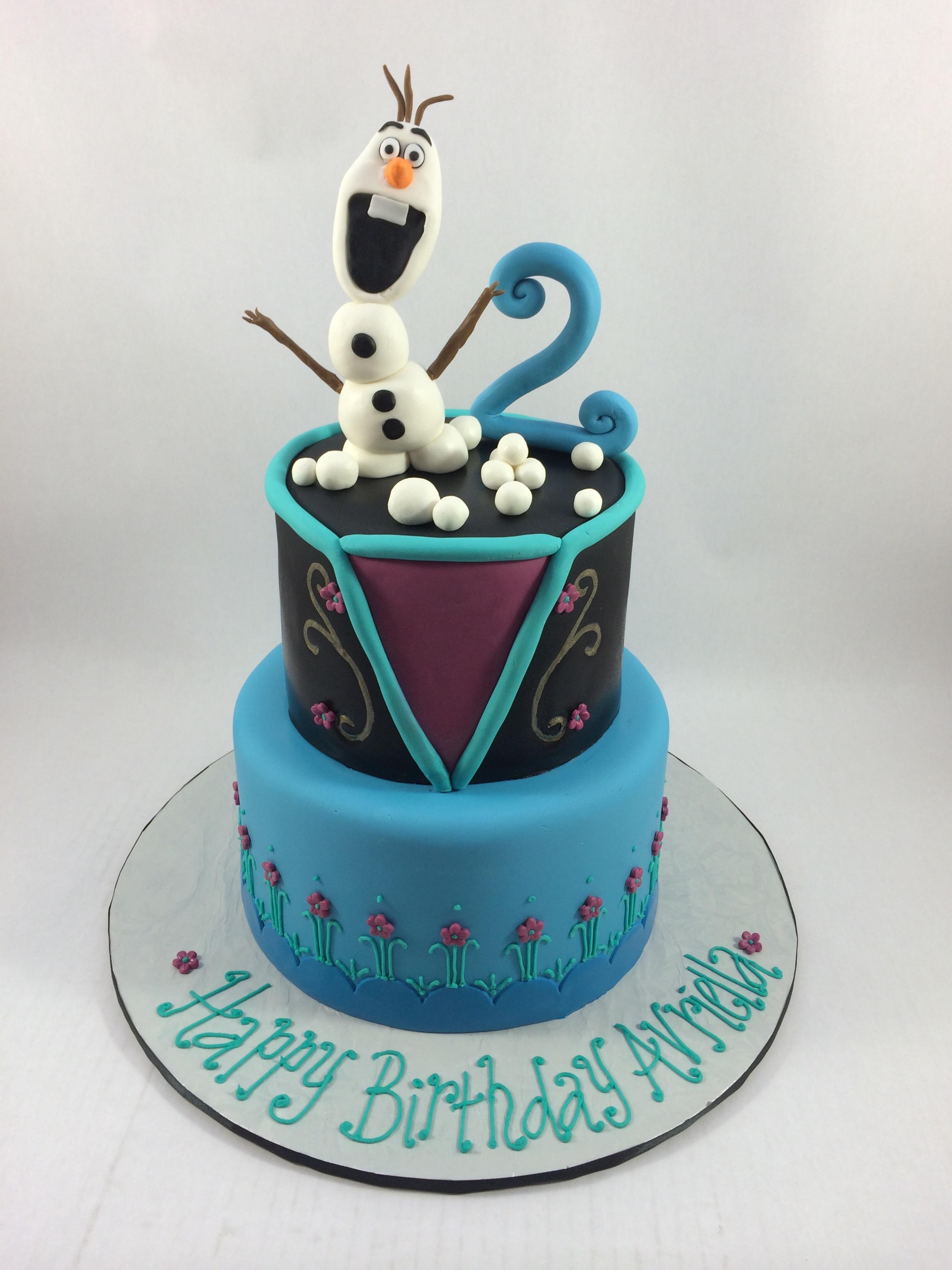 Cake frozen olaf.JPG