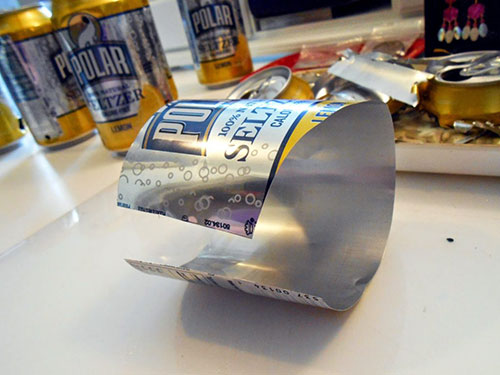 Using Aluminum Cans for Jewelry Making