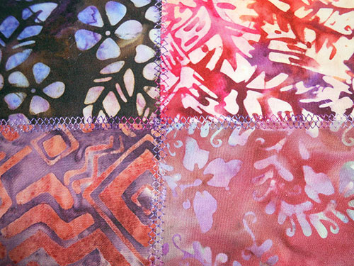 Sewing Tutorial: Make a Quilted Tote Bag with Batik Charm Squares