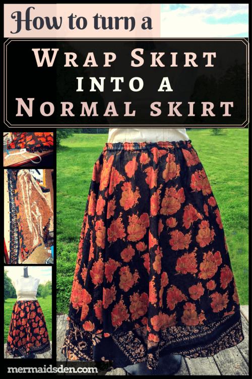 Sewing Tutorial: Convert a Wrap Skirt into a Regular Skirt