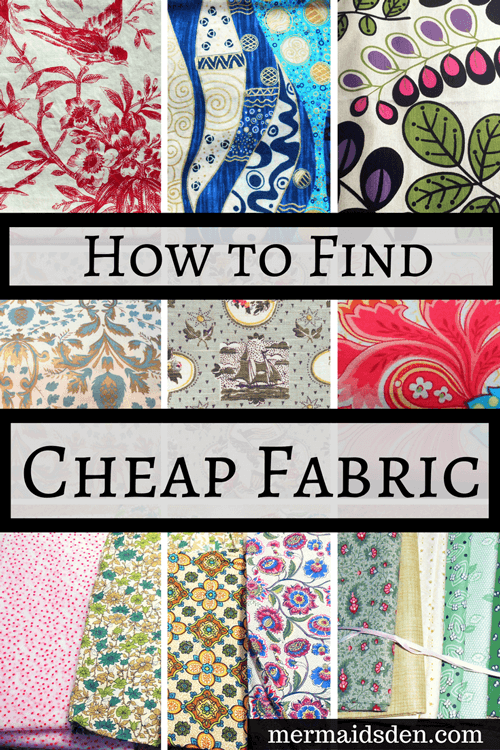 How to Find Cheap Fabric for Sewing Projects