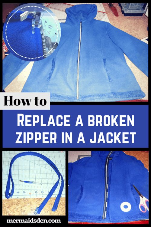 How to Replace a Broken Zipper in a Jacket