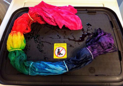 Thrift Store Refashion: Rainbow Tie Dye for a Boring White Dress