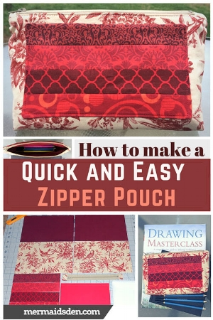 Make a quick and easy zipper pouch: Sewing Tutorial