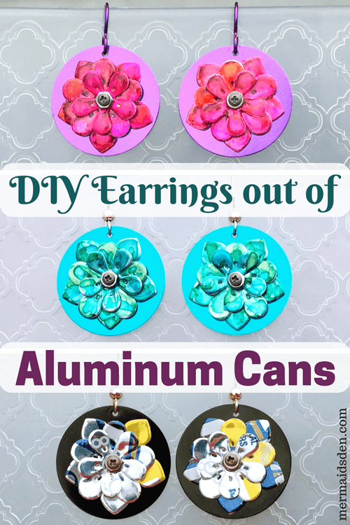 DIY Earrings out of Aluminum Cans