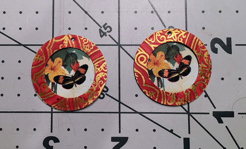 How to Make Earrings out of Vintage Tins