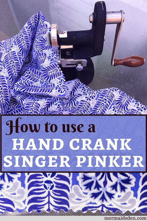 Vintage Singer Hand Crank Pinker