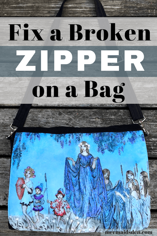 Everyday Mending: Fix a Broken Zipper in a Bag