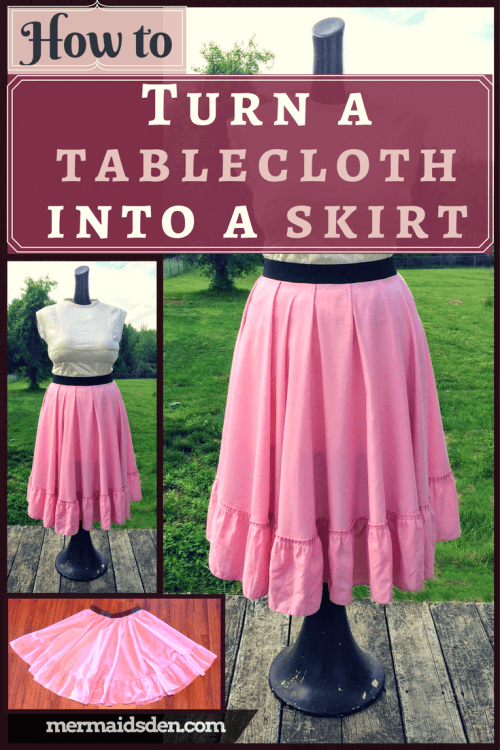 How to turn a tablecloth into a skirt