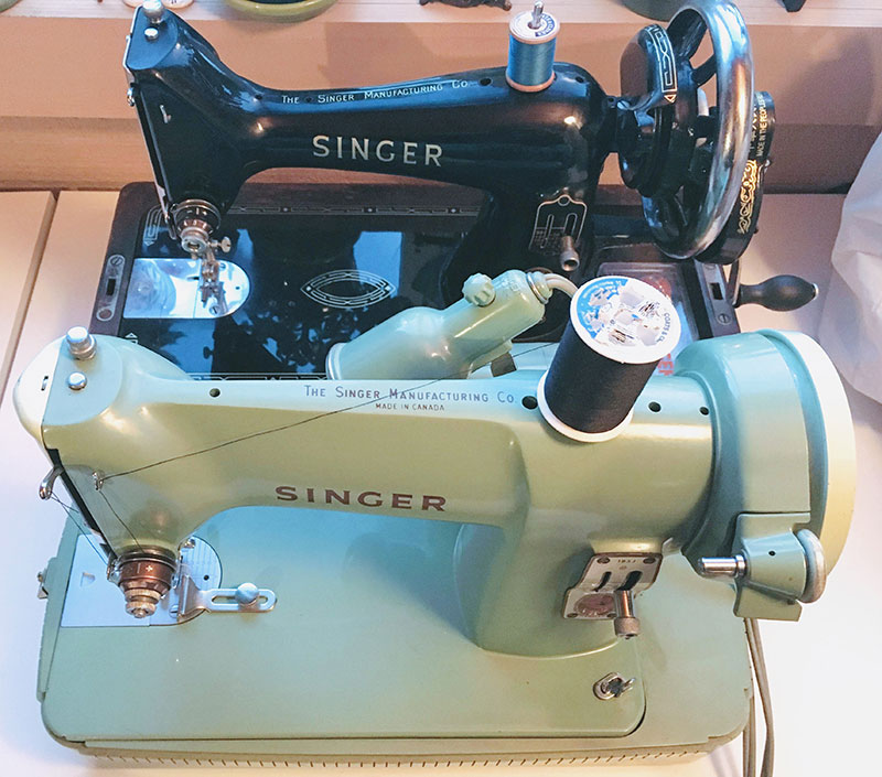 Singer 185 and Singer 99 sewing machines