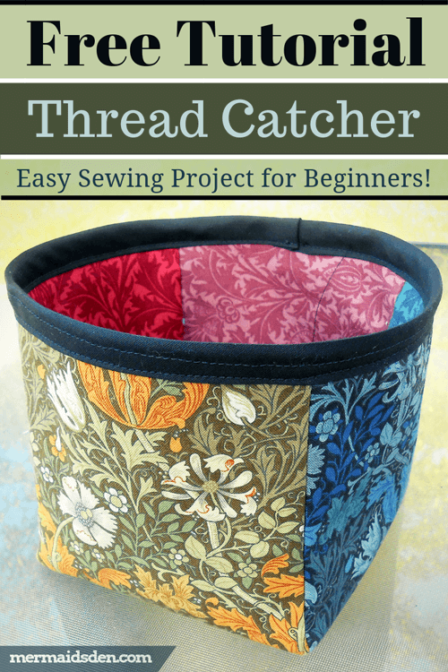 Thread Catcher Basket Free Pattern