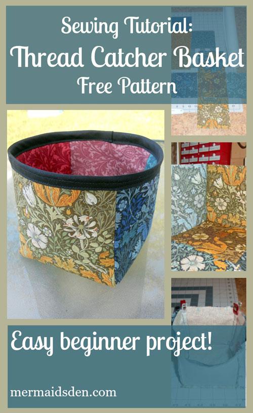 Thread Catcher Basket Free Pattern