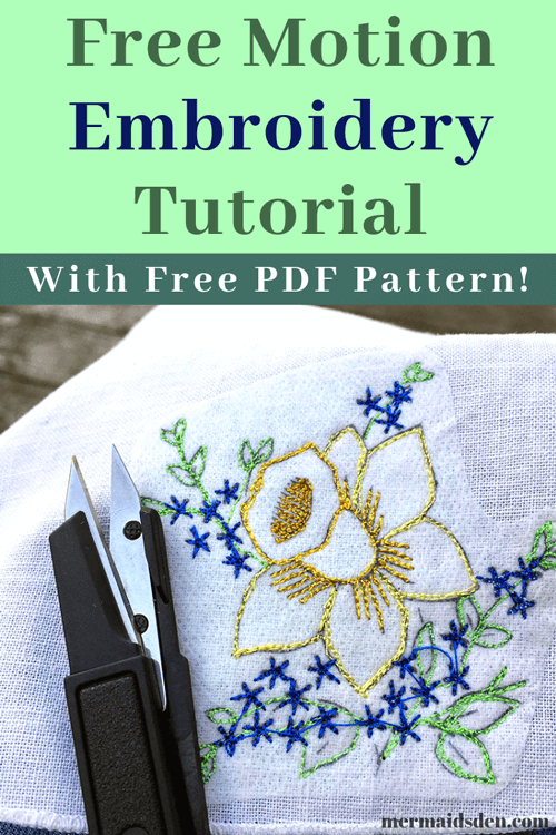 Free Embroidery Pattern and Embroidery Tutorial