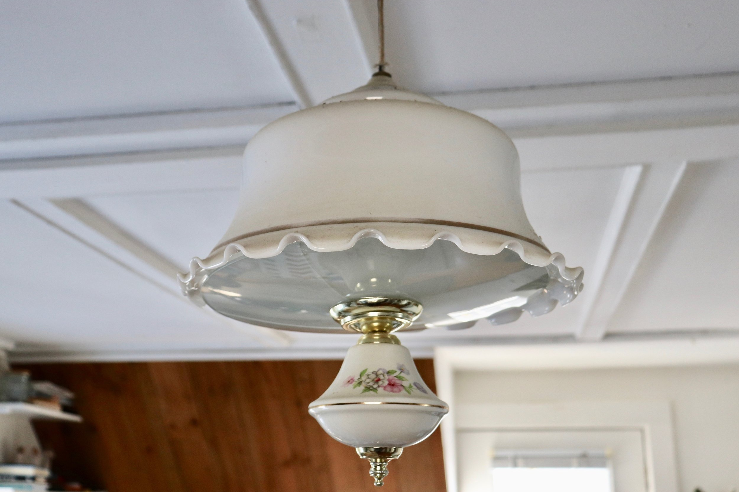 The beloved light fixture in our kitchen
