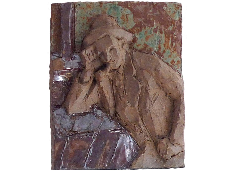 """Cezanne Smoker, 2011.   Glazed stoneware, 9"""" x 11"""" x 3"""""""