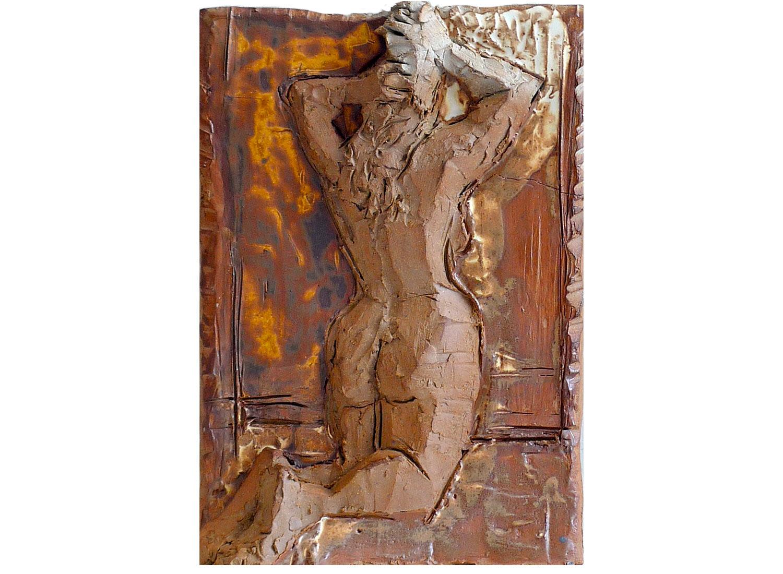 "From Kokaschka's Erotic Drawings, 2010.   Glazed stoneware, 11"" x 14"" x 3"""