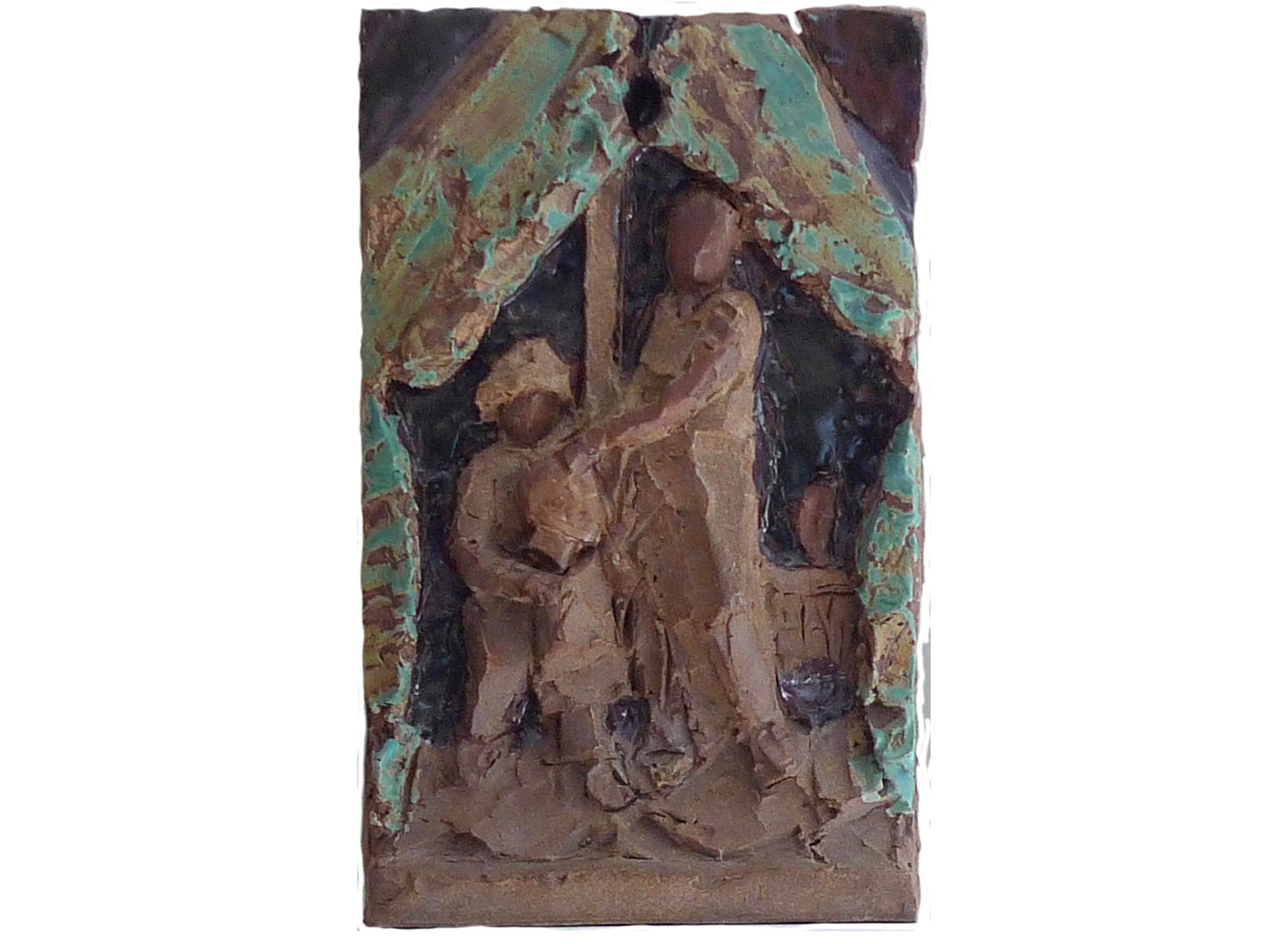 "After Andrea Mantegna's Judith and Holofernes, 2011.   Glazed stoneware, 12"" x 17"" x 3"""