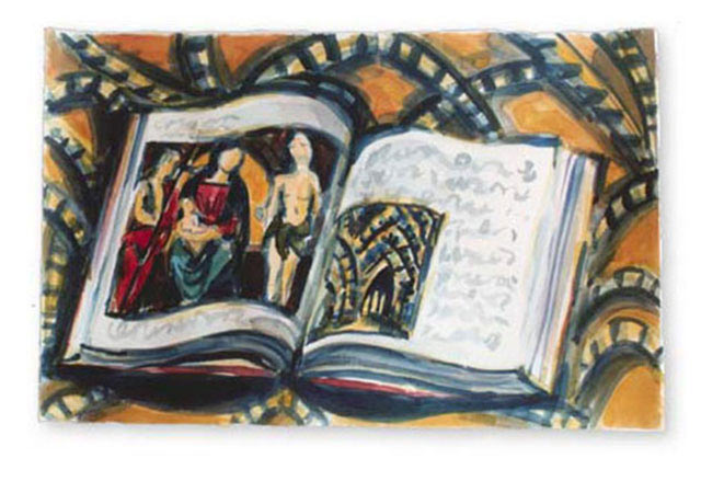 "Raphael, 2002.   Watercolor, 22"" x 15"""