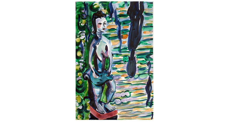 "Monsoon, 2009.  Watercolor. 20"" x 26"""