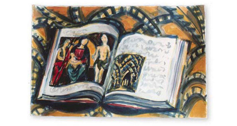 "Raphael, 2002.  Watercolor. 22"" x 15"""