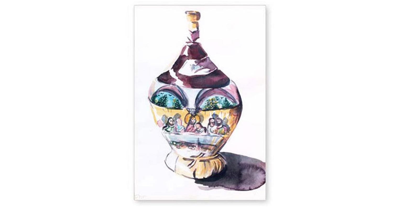 """Chianti, 2002.  Watercolor. 15"""" x 22"""""""