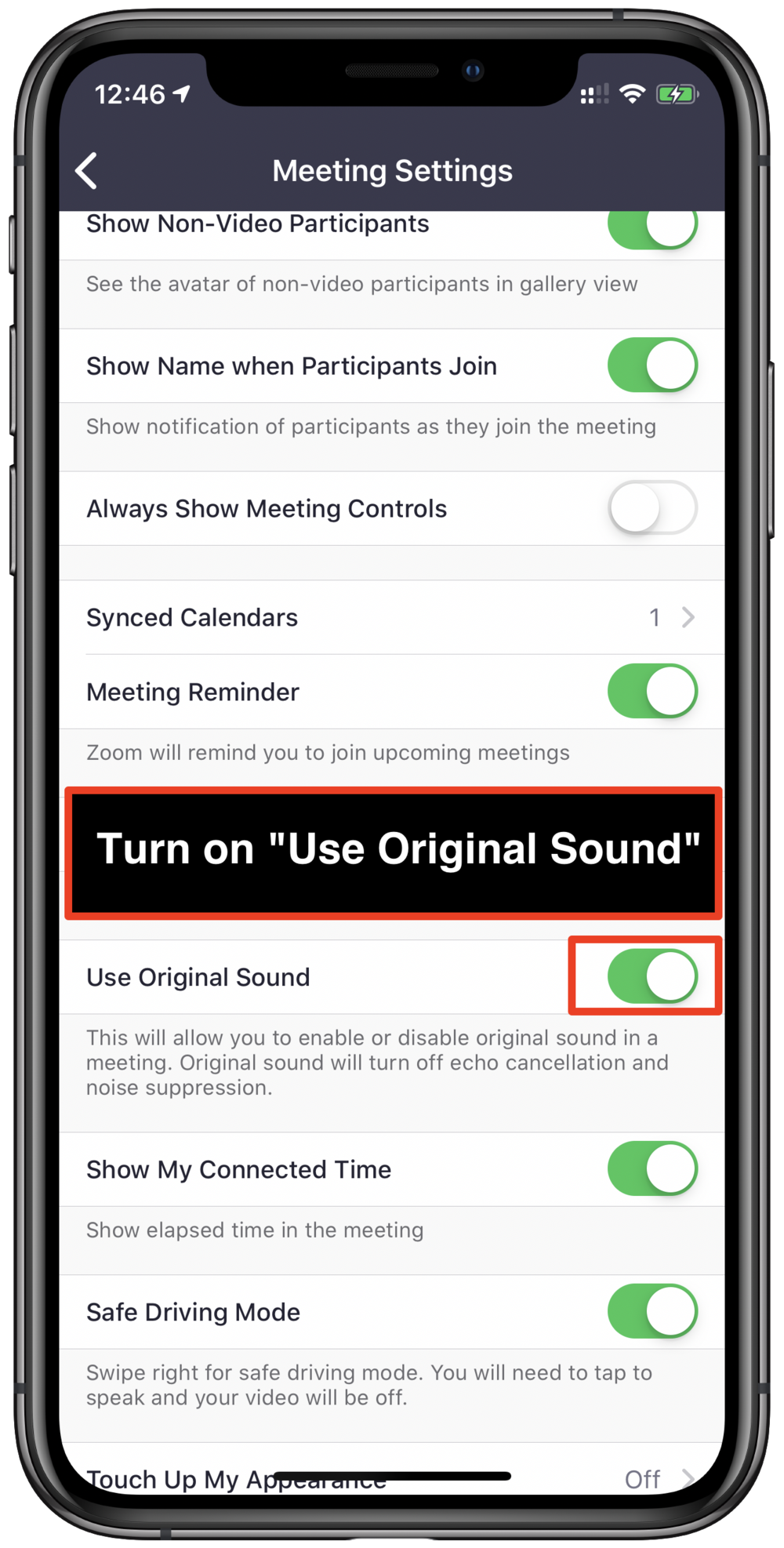 Zoom: How to turn on original sound on iPhone, iPad and Android