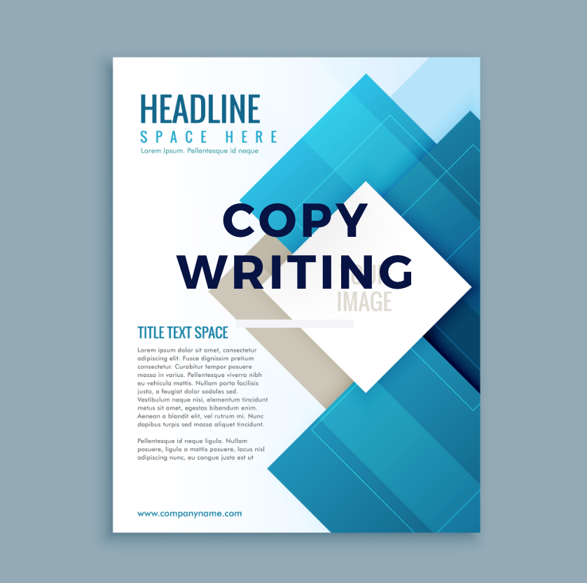 copy writing - We write efficient and professional copy for all your advertising, brochure and website needs.