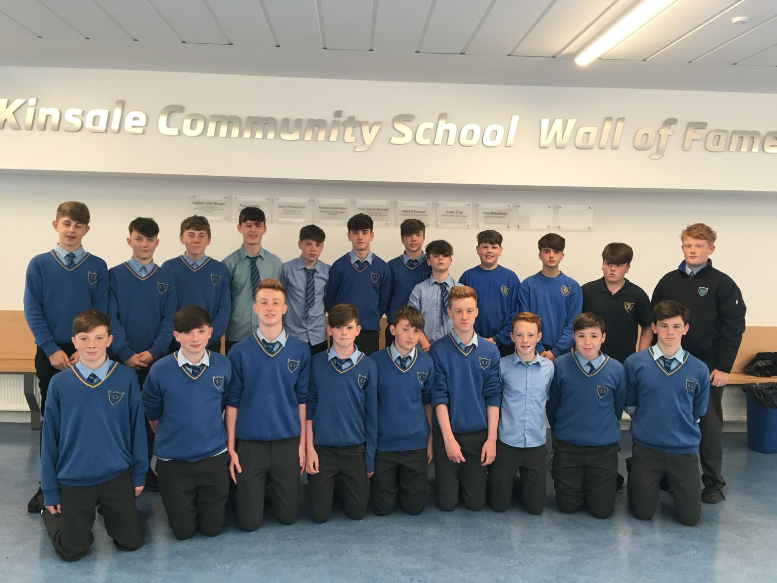 Kinsale rugby club U14 members who won the league and cup double