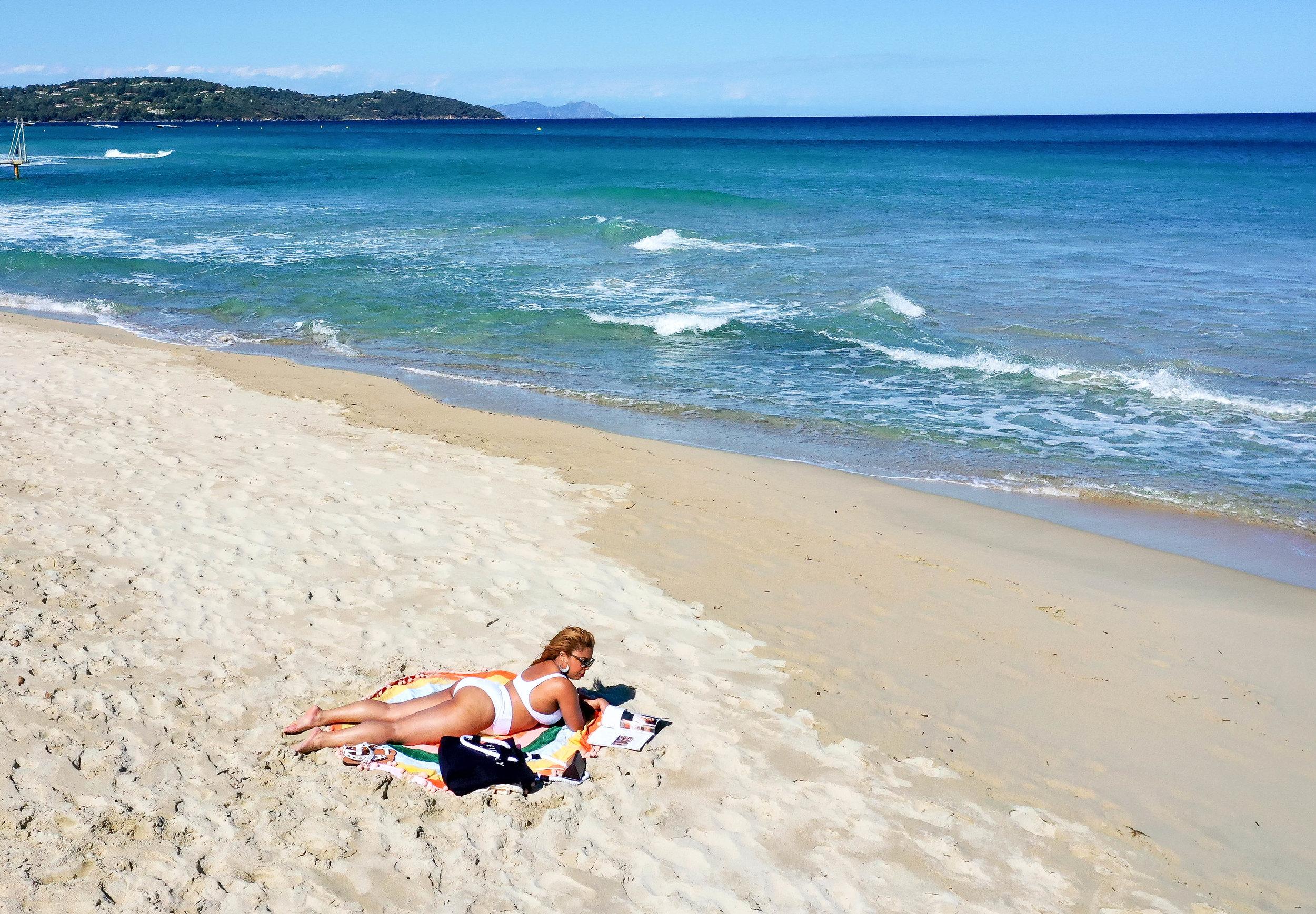 Pampelonne Beach in Saint-Tropez, France
