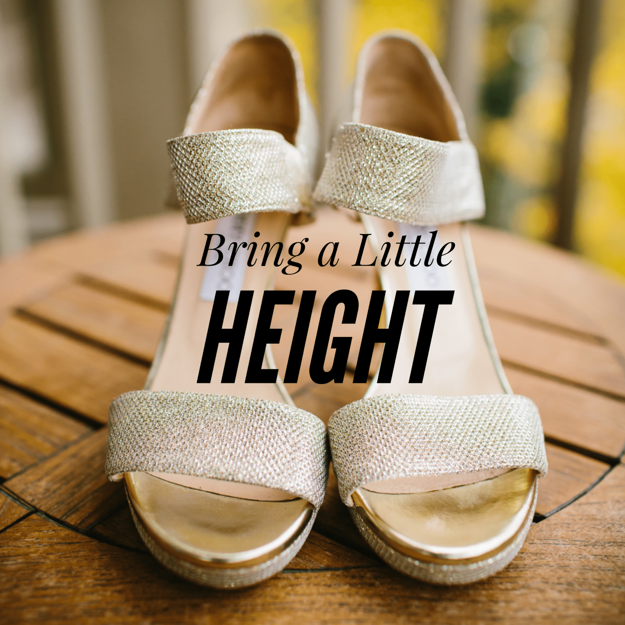 Bring heels to get the full bridesmaid dress experience
