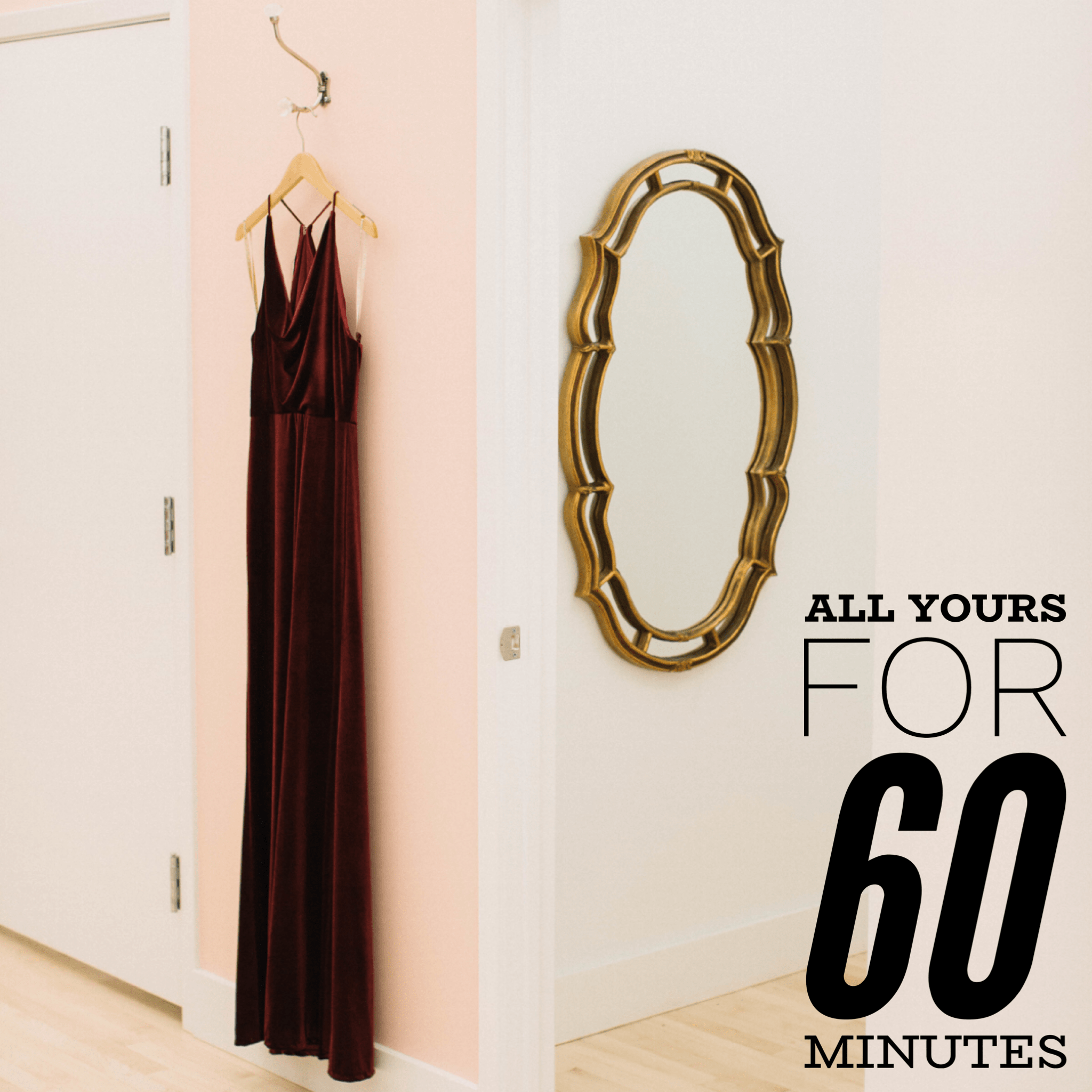 60 minute dress rental appointment