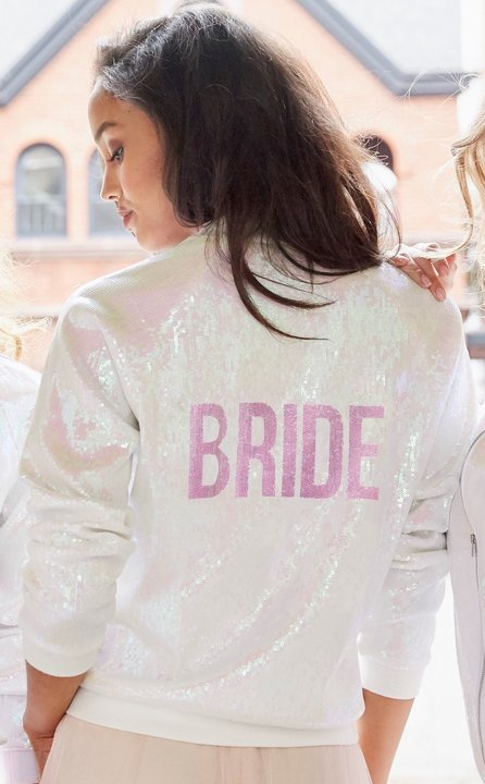 Hayley Paige Athleisure Bomber Jacket BRIDE at Gilded Social